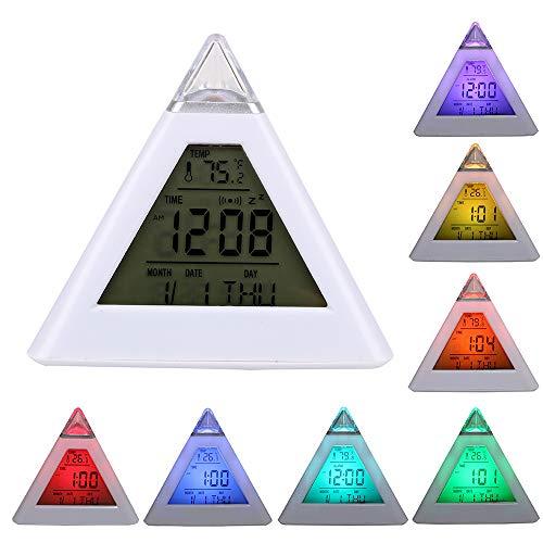 iTimo - Despertador digital (tipo pirámide, termómetro par