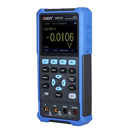 Ticfox HDS242 2 en 1 osciloscopio digital de mano generador de forma de onda multímetro 2CH 40MHz medidor de prueba(European standard AC110-240V)