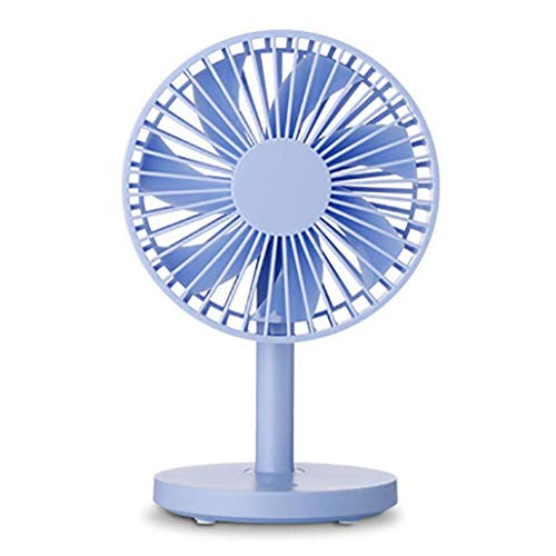 KZEN Ventilatore da Tavolino, 3-Speed Adjustment velocità del Vento, 7-Blade Mute Design, Carico del USB Mini Ventilatore, su E Giù Regolazione 70 ° di Rotazione,Blu
