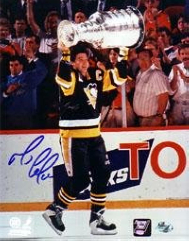 Signed Mario Lemieux Photograph  16X20  Autographed NHL Photos
