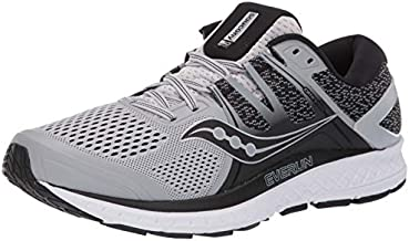Saucony Men's Omni ISO Shoes, Grey/Black, 11.5W