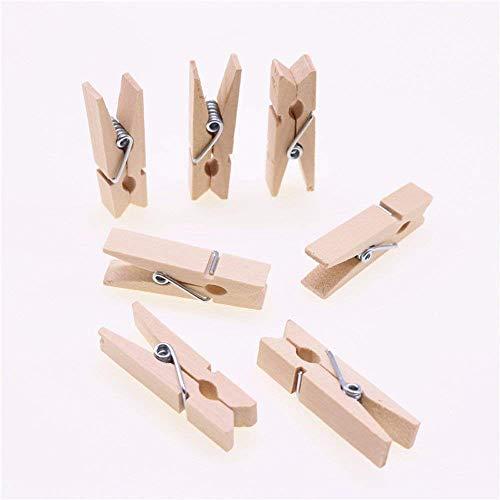 Asentechuk® Lot de 20 mini en bois naturel Photo Clip Clips Craft Décoration Clips Pinces à linge