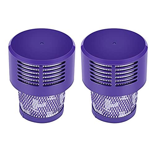 OurLeeme Filtro de repuesto, filtro de aspiradora, filtro lavable, 2 unidades de limpiador eficaz y lavable, compatible con cartuchos de filtro para el hogar