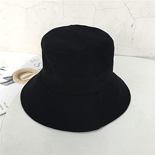 Nuevo sombrero de pescador japonés para mujer, sombrero de cubo informal literario, versión coreana de la cabeza salvaje de la calle, tapa de olla anti-ultravioleta al aire libre-black_Code