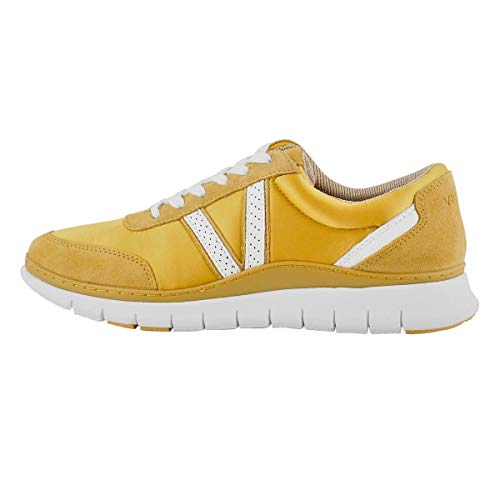Vionic Women's Nana Sneaker - Ladies Casual Sneakers with Concealed Orthotic Arch Support Mustard 10 Medium US