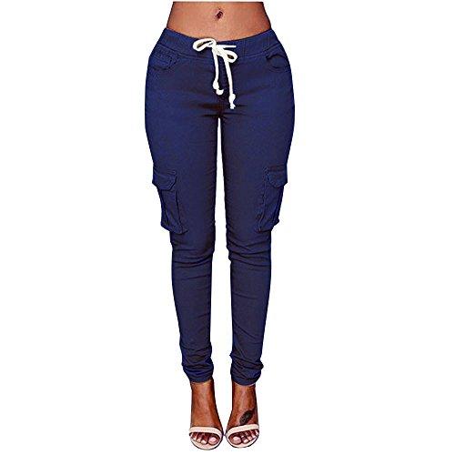 Paolian Leggings Femme Couleur Unie Slim Collant Extensible Push Up Fesse Pantalon de Crayon Cigare Automne Hiver (S/M/L/XL/XXL)