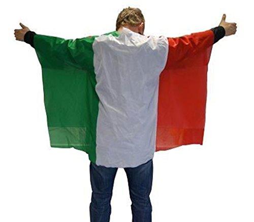 Unbekannt Italien Flagge Cape Fankostüm Fanumhang Fan Umhang Fahnenumhang Fahne Fahnencape Poncho Flaggenumhang