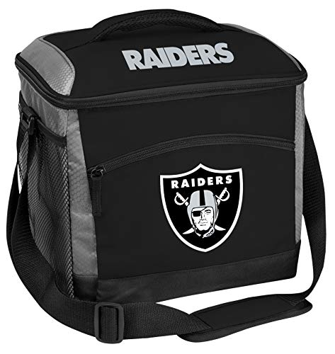 Rawlings NFL Soft-Sided Insulated Cooler Bag, 24-Can Capacity, Las Vegas Raiders, Large