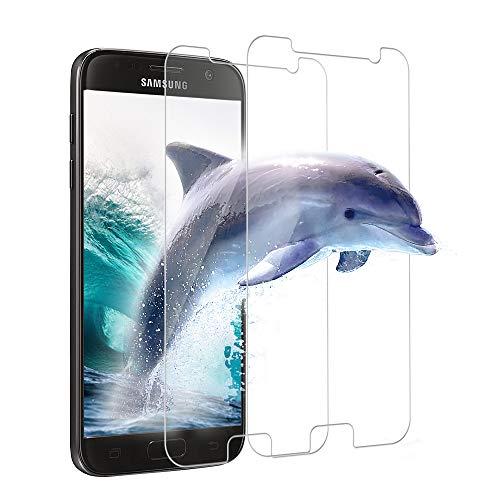 Carantee Panzerglas Schutzfolie für Samsung Galaxy S7, 9H Härte, HD Klar Panzerglasfolie, Einfache Installation, Anti-Kratzen/Öl/Bläschen Displayschutzfolie für Samsung Galaxy S7 [2 Stück]
