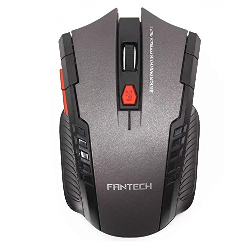 E.I.H. Wireless Mouse FANTECH 2.4GHz USB 2.0 Wireless Mouse 6D Gaming Optical Gaming Mouse Mice Computer Mouse 2400DPI for Desktop Laptop PC Pro Gamer
