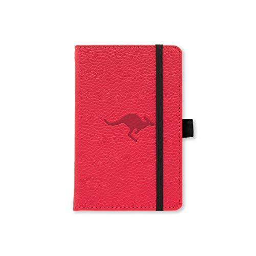 Dingbats D5417R Notebook con copertina rigida tascabile A6, canguro rosso a scacchi