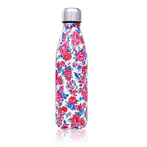 NYCROSSER Thermos geïsoleerde fles roestvrij staal BPA-vrij vacuüm lekvrij sport fitness running yoga 500ml
