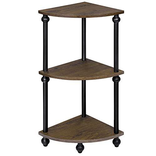 SRIWATANA Vintage Corner Table Shelf, 3-Tier Corner...