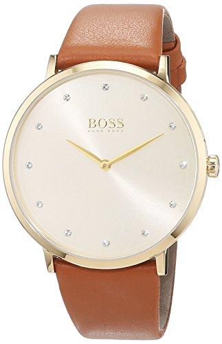 Hugo Boss Damen Datum klassisch Quarz Uhr mit Leder Armband 1502411