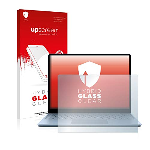 upscreen Hybrid Glass Screen Protector compatible with Microsoft Surface Laptop Go - 9H Glass Protection