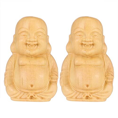 BESPORTBLE 2 Piezas Retro Tibetano Budismo Buda Colgante Madera Amuleto Amuleto para Hombres Mujeres Estilo 1