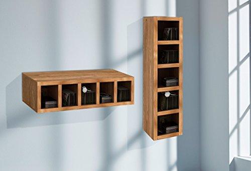 Wolf Möbel VISION wandrek met 5 vakken, hout, naturel, 30 x 28 x 112 cm