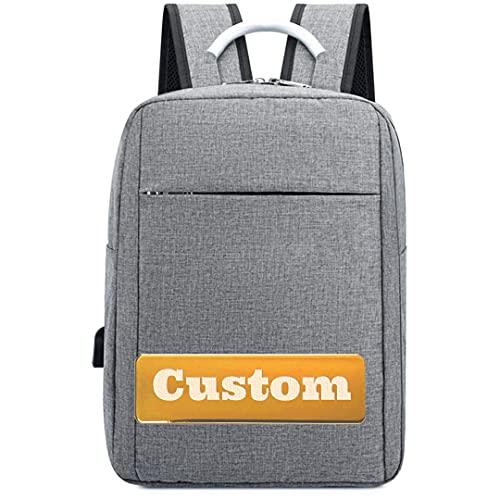 Borsa protettiva del nome personalizzata per gli uomini Slim da 13 pollici zaino per laptop 13 donne portatili (Color : Grey, Size : One size)