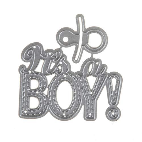 SovelyBoFan DIY Baby Boy Metal Steel Cutting Dies Embossing Craft Dies 3D Scrapbooking Stamp Handmade Card Making Photo Decoration