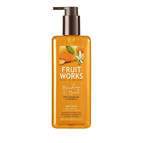 Fruit Works Mandarin & Neroli Cruelty Free & Vegan Hand Wash With Natural Extracts 1x 500ml