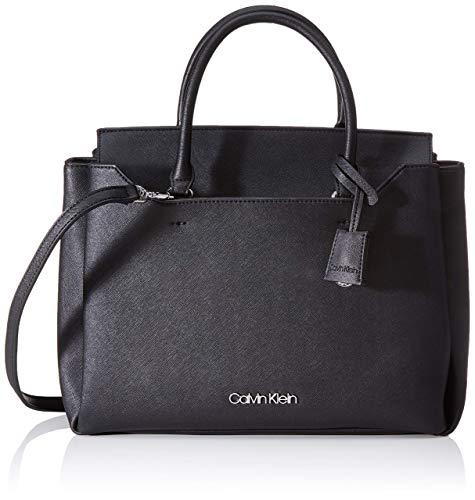 Calvin Klein Damen Worked Tote, Schwarz (Black), 14x26x37 centimeters