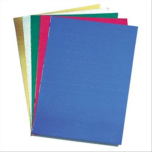 cwr 2225/1 Cannetè Cartón Ondulado, Color Plateado y Negro, 50 x 70 cm, 10 Unidades, Color Dorado