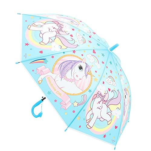 Antonio Kinder Regenschirm Einhorn Blau