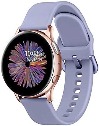 Bracelets Samsung Galaxy Watch Active 2 40mm Aluminio Rosa Gold (Pink Gold) y Correa Deportiva Violeta R830