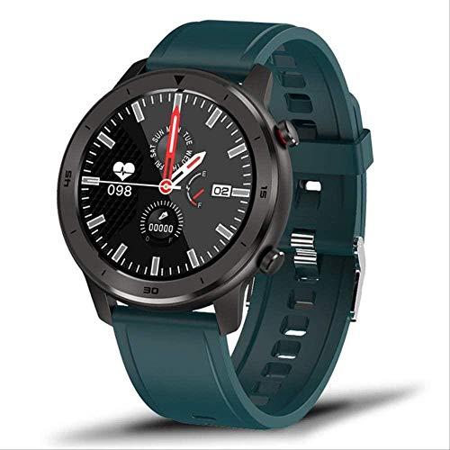 Reloj inteligente impermeable de los hombres del ritmo cardíaco de la presión arterial monitoreo de la pantalla táctil completa control de música deporte Smartwatch-2