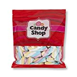 Candy Shop Pink, White, Blue and Yellow Unicorn Marshmallow Ropes - 2.2 lb Bag
