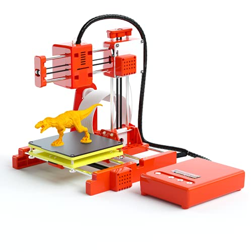 Portable 3D Printer,Printing Size 100 x 100 x 100mm,Mini Desktop DIY 3D Printer Kit with 10M 1.75mm TF Card,PLA Filament Magnetic Removable Silent Plate for Kids School Beginners Creativity Education