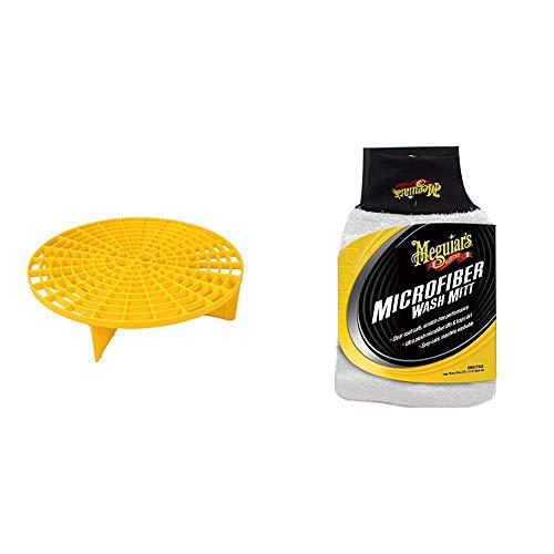 Meguiars X3003 Grit Guard Eimereinsatz & X3002EU Microfibre Wash Mitt Mikrofaser-Waschhandschuh