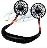 Portable Fan Hand Free Neck Fan Mini USB Personal Fan Wearable Sport Fan USB Desktop Fan, 3 Speeds, USB Rechargeable, 360 Degree Adjustment for Kids, Home Office Outdoor Travel