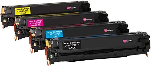 4er Set INK INSPIRATION® Premium Toner für HP Laserjet Pro 200 Color M251n M251nw MFP M276n MFP M276nw Canon LBP-7100CN LBP-7110CW MF-8230CN MF-8280CW | Schwarz 2.400 Seiten & Color je 1.800 Seiten