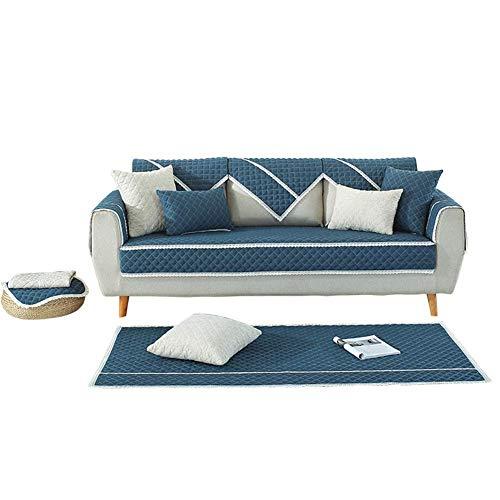 Yuany Funda para sofá Tckening Protector Antideslizante Transpirable Funda Antideslizante de algodón y Lino de Gran tamaño, 90 * 210 cm