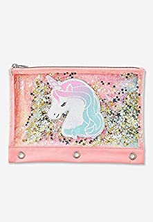 Justice Unicorn Pink Ombre Shaky Pencil Case