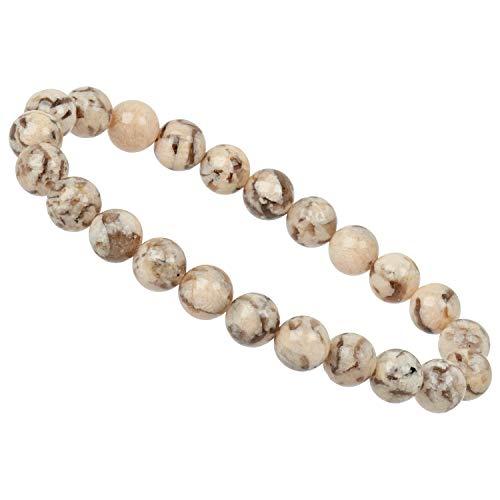 ELEDORO PowerBead - Pulsera elástica de perlas de piedras preciosas de 8 mm