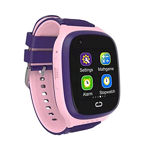 balikha Reloj de Pulsera Inteligente IP67 Pantalla táctil a Prueba de Agua Relojes Inteligentes HD Selfie Cámara Rastreador GPS Reloj Inteligente para niños - Rosado