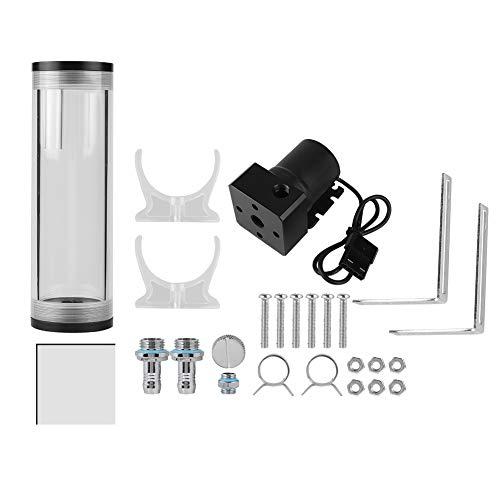 Cylinder Water Tank 50mm Diameter Computer Water Tank Serbatoio 800L / H CPU Sistema di Raffreddamento Liquido ad Alta velocità(160 Millimetri)
