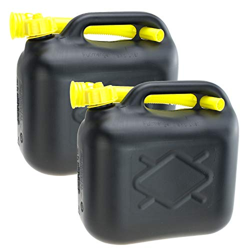 Smartweb 2er Set 20 Liter Kanister Maße: 38 x 38 x 16cm (BxHxT) Benzinkanister Dieselkanister mit Trichter Kunststoff von Lennox