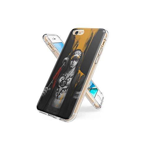 XaNChVlI Compatible con iPhone 6S Plus Funda, iPhone 6 Plus Funda Ultra Thin Crystal Clear TPU de Silicona con Estilo patrón Funda Protectora para el iPhone 6S Plus/iPhone 6 Plus #A004