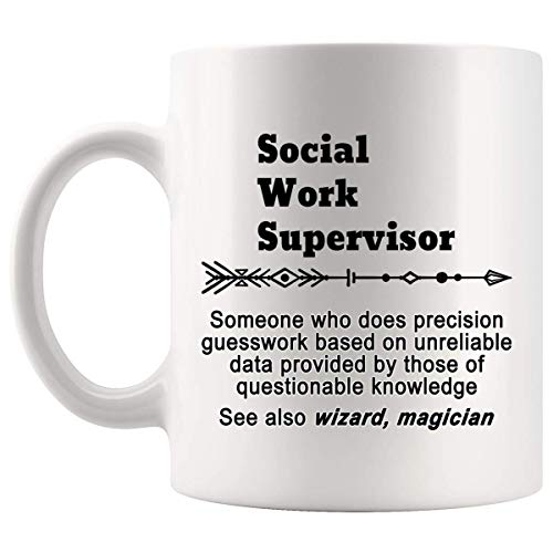 Definition Social Work Supervisor Meaning Mug Gift - 11Oz Coffee Cup - Gag Gifts for Men Women T-Shirt Cups Mugs