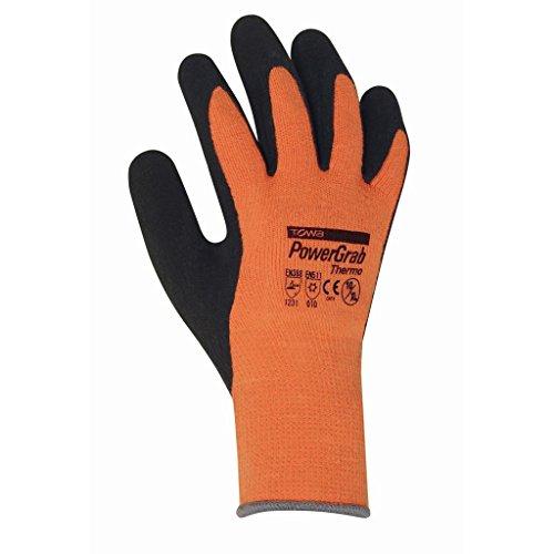 Towa 2203 Lot de 144 paires de gants d'hiver thermiques Orange Taille 08
