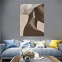 現代の黒人アート女性の写真キャンバス壁アート絵画ヴィンテージ家の装飾キャンバスポスター装飾キャンバスプリント40x60cmフレームなし