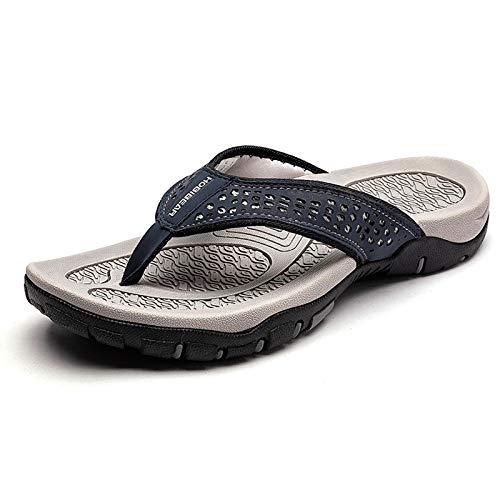 CELANDA Chanclas de Hombre para la Playa Piscina para Adulto Sandalias Antideslizante Espuma Acolchada Flip Flop Moda Confortable Verano Ducha Zapatillas Soporte para el Arco Zapatos Casuales