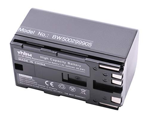 VHBW Batería LI-Ion Compatible con Canon XF-100-105 -300-305, XL H1S, HA H1S, XH G1S, XL2, XM2 sustituye BP-950G, BP-925/-955/-975