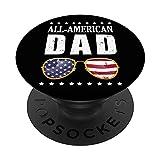 All American Dad Gafas de sol 4 de julio USA Bandera America PopSockets PopGrip Intercambiable