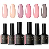 VOXURY Vernis Semi Permanent, 6 Couleurs Rose et Nude...