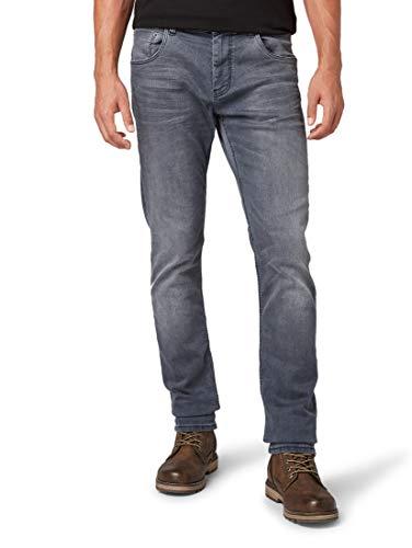 TOM TAILOR Herren Josh Slim Jeans, Grey Denim 102, 34W / 32L