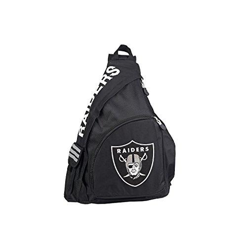 """NFL Las Vegas Raiders """"Leadoff"""" Sling Backpack, 20"""" x 9"""" x 15"""""""